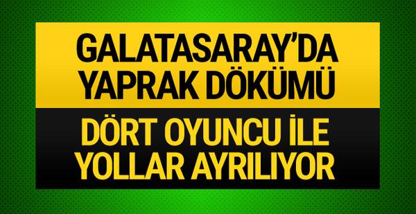 Galatasaray'da 8 futbolcunun kontratı bitiyor