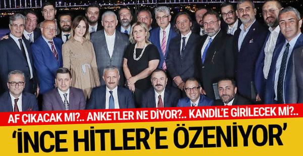Gündemimizde af yok! Muharrem İnce Hitler'e özeniyor...