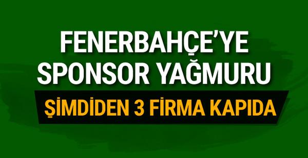 Fenerbahçe'ye sponsor yağıyor! Şimdiden 3 firma kapıda