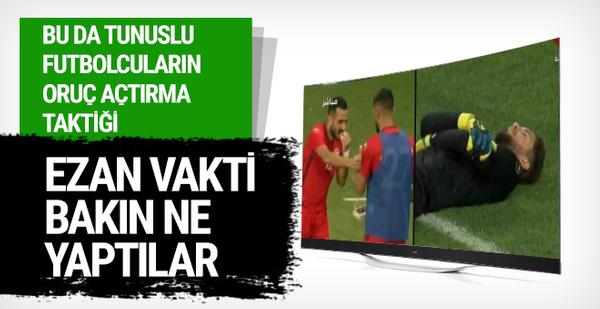 Tunuslu futbolcuların maçta oruç açma yöntemi