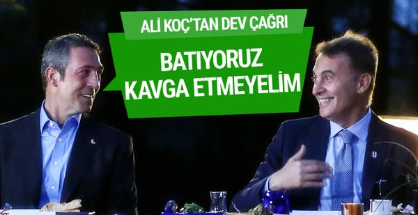 Ali Koç'tan kulüplere barışma çağrısı