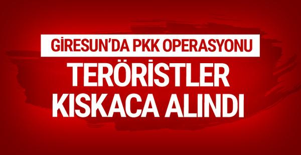 Giresun'da PKK'lılar kıskaca alındı