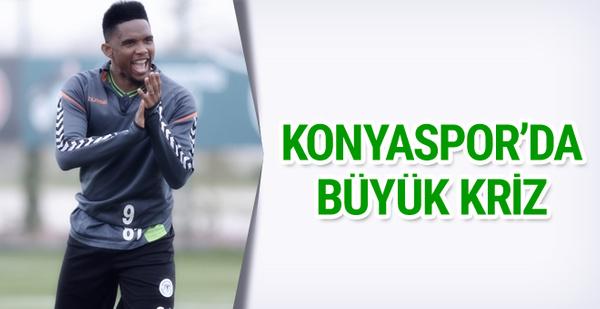 Konyaspor'da Eto'o krizi