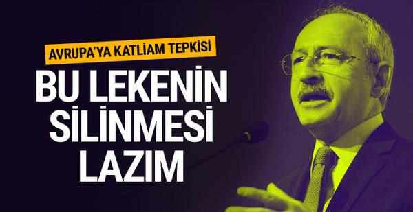 Kılıçdaroğlu'dan Avrupa'ya katliam eleştirisi
