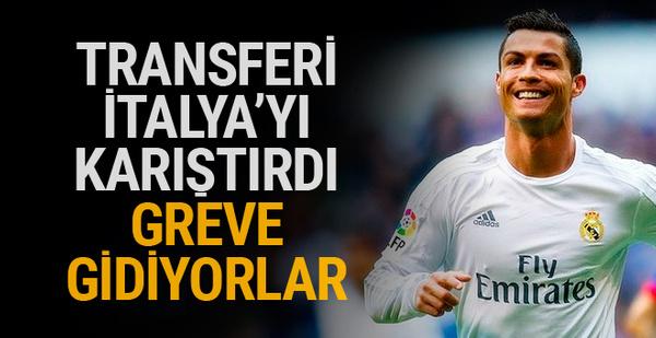 Fiat çalışanları Ronaldo transferi nedeniyle greve gidecek