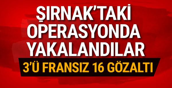Şırnak'ta yakalandılar! 3'ü Fransız 16 gözaltı!