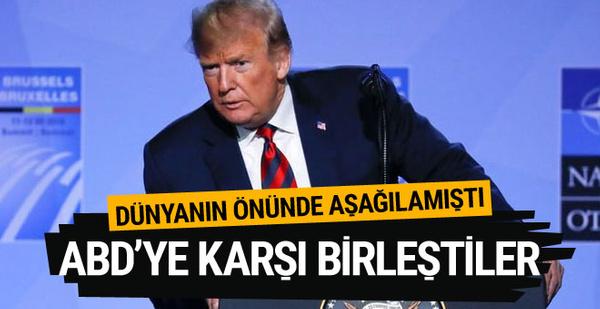 Trump zirvede aşağıladı! İki ülke ABD'ye karşı birleşti