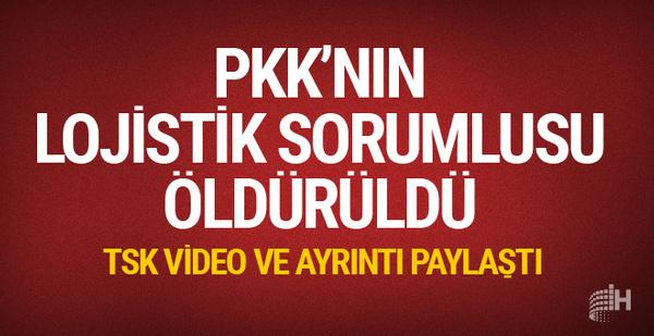 PKK'nın lojistik sorumlusu etkisiz hale getirildi