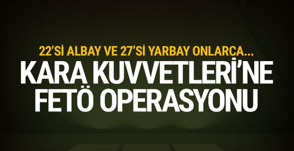 Ankara'da büyük FETÖ operasyonu! Onlarca askere gözaltı