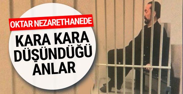 Adnan Oktar'ın nezarethane fotoğrafı kara kara düşünüyor