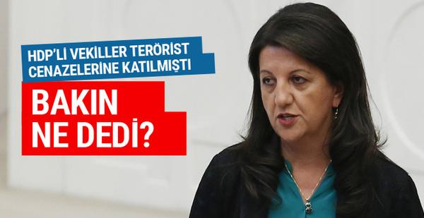 Pervin Buldan'dan terörist cenazesi açıklaması