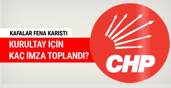 CHP'de kurultay için toplanan imza sayısı belli oldu