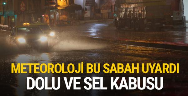 Meteoroloji'den İstanbul'a yağış ve dolu uyarısı
