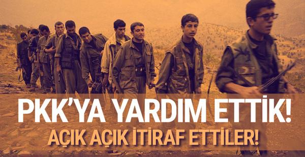 Açık açık itiraf ettiler! PKK'ya destek verdik