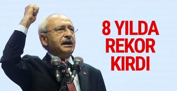 Kılıçdaroğlu 8 yılda rekor üstüne rekor kırdı