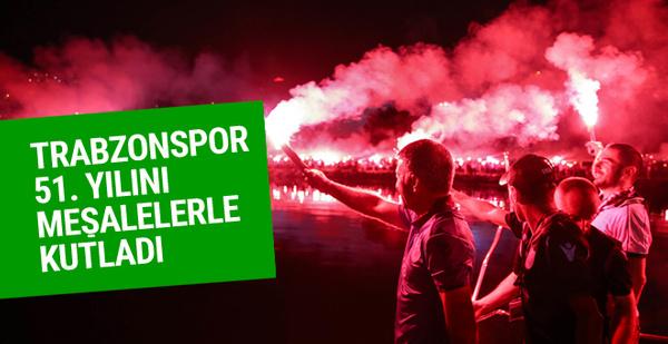 Trabzonspor 51. yılını meşalelerle kutlandı