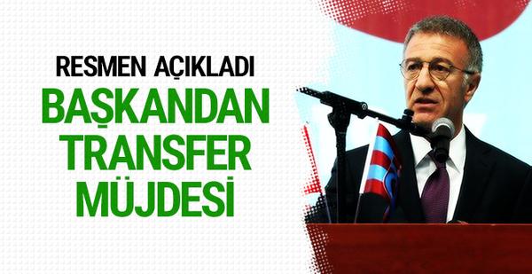 Trabzonspor'un yeni transferini açıkladı