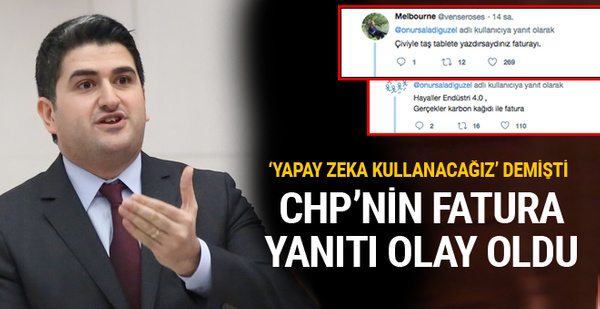 CHP'nin fatura yanıtı Twitter'da dalga konusu oldu