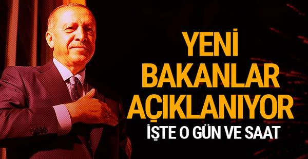 Erdoğan yemin ediyor! Bakanlar Kurulu pazartesi günü açıklanacak...