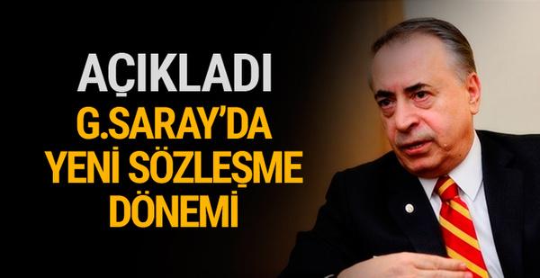 Galatasaray'da yeni sözleşme dönemi