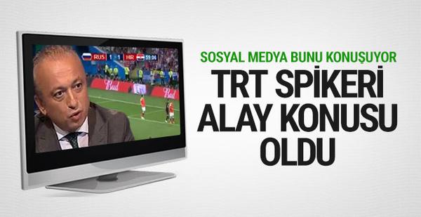 TRT Spikeri Levent Özçelik alay konusu oldu