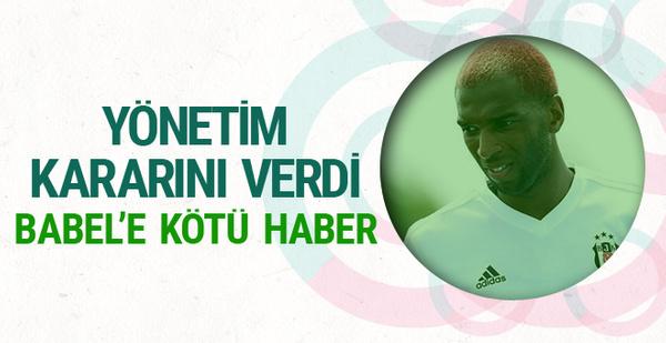 Beşiktaş'tan Ryan Babel'e büyük şok