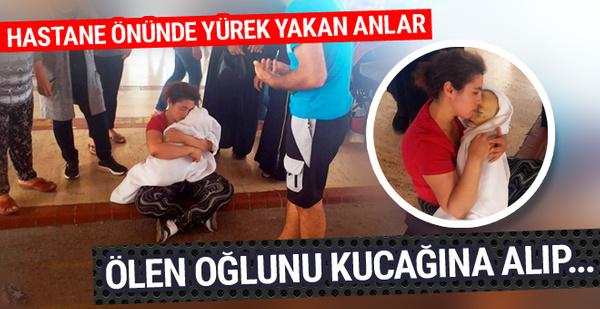 Antalya'da hastane önünde yürek yakan görüntü!