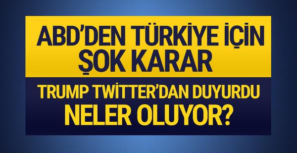 ABD'den son dakika Türkiye kararı çelik ve alüminyum vergileri iki katına çıktı
