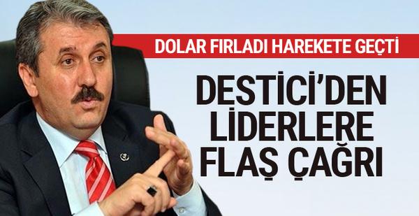 BBP Lideri Mustafa Destici'den 'Liderler Zirvesi' çağrısı