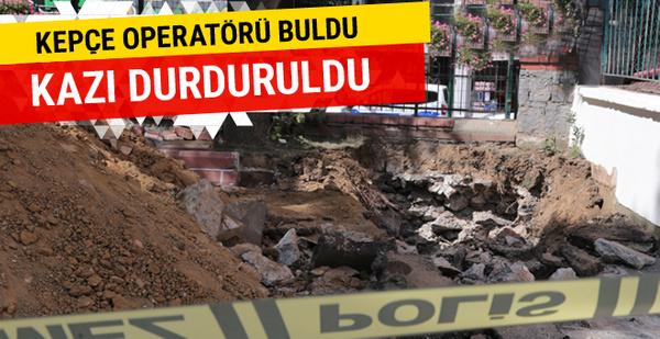 Üsküdar'da kazı sırasında 2 küp bulundu