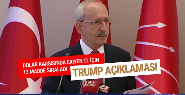 Kılıçdaroğlu Trump'ın olay Türkiye tweeti için ne dedi?