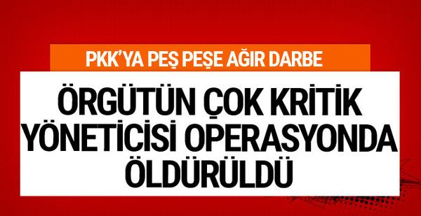 PKK'nın çok önemli ismi operasyonda öldürüldü!