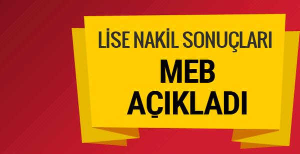 LGS nakil sonuçları e devlet üzerinden sorgulama MEB açıkladı