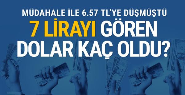 Dolar aniden fırladı saat 14.30'da 7 lirayı gördü euro 8 liranın eşiğinde sebebi de..