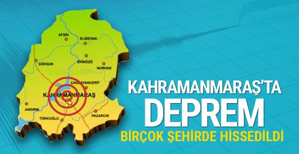 Kahramanmaraş'ta korkutan deprem! Birçok şehirde hissedildi!