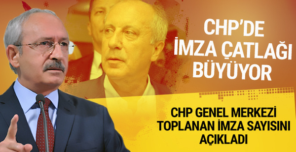 CHP yönetiminden imzalar hakkında ilk yorum