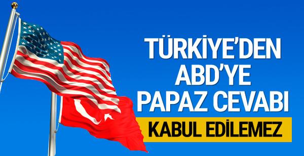 Türkiye'den ABD'ye Rahip Brunson cevabı