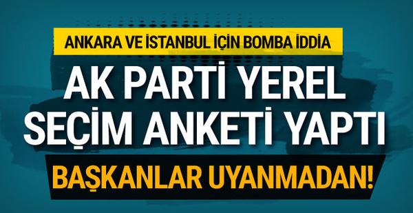 AK Parti'den yerel seçim anketi! Bomba sonuçlar...