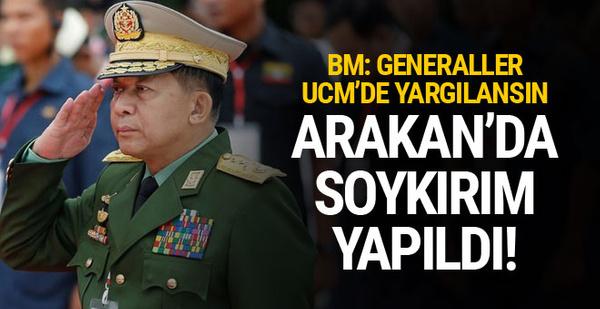 BM: Myanmar'da generaller soykırım yaptı yargılanmalılar...