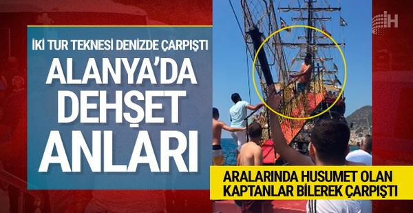 Alanya'da tur tekneleri çarpıştı: 15 gözaltı