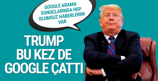 Donald Trump Google hileyle suçladı