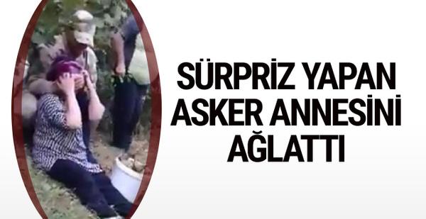 Ordulu askerden fındık bahçesinde annesini ağlatan sürpriz!