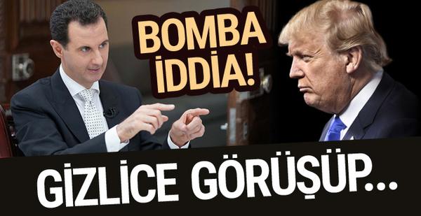 Suriye'yle ilgili bomba iddia! Esad ve ABD gizlice...