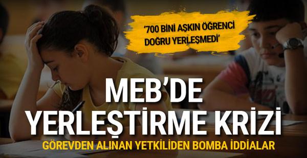 MEB'de yerleştirme krizi! Görevden alınan yetkiliden bomba iddialar