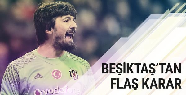 Beşiktaş'ta ilk yarıda kaleyi Tolga Zengin koruyacak
