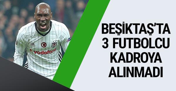 Beşiktaş'ta 3 futbolcu UEFA kadrosunda yok