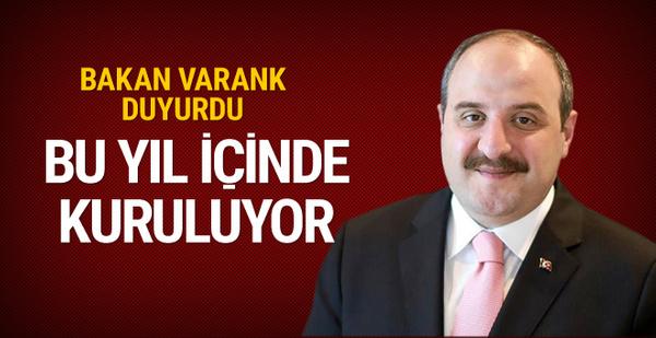 Mustafa Varank duyurdu: Bu yıl içinde kuruluyor