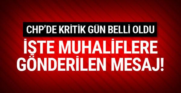 CHP'de muhalif delegelere bu mesaj gönderildi