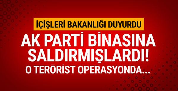 AK Parti binasına saldıran terörist etkisiz hale getirildi