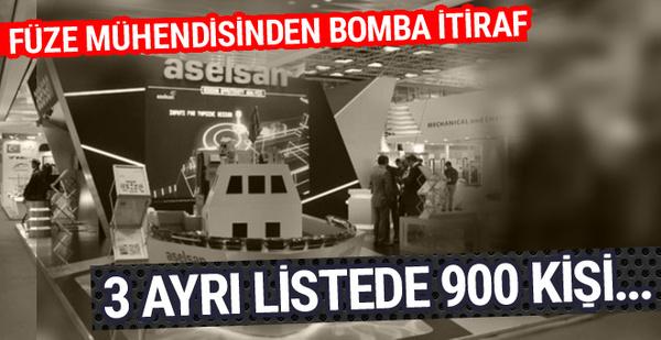 Güdümlü füze mühendisi itiraf etti ASELSAN'da 3 ayrı listede 900 FETÖ'cü...